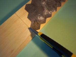 Holz schneiden zum Ersten