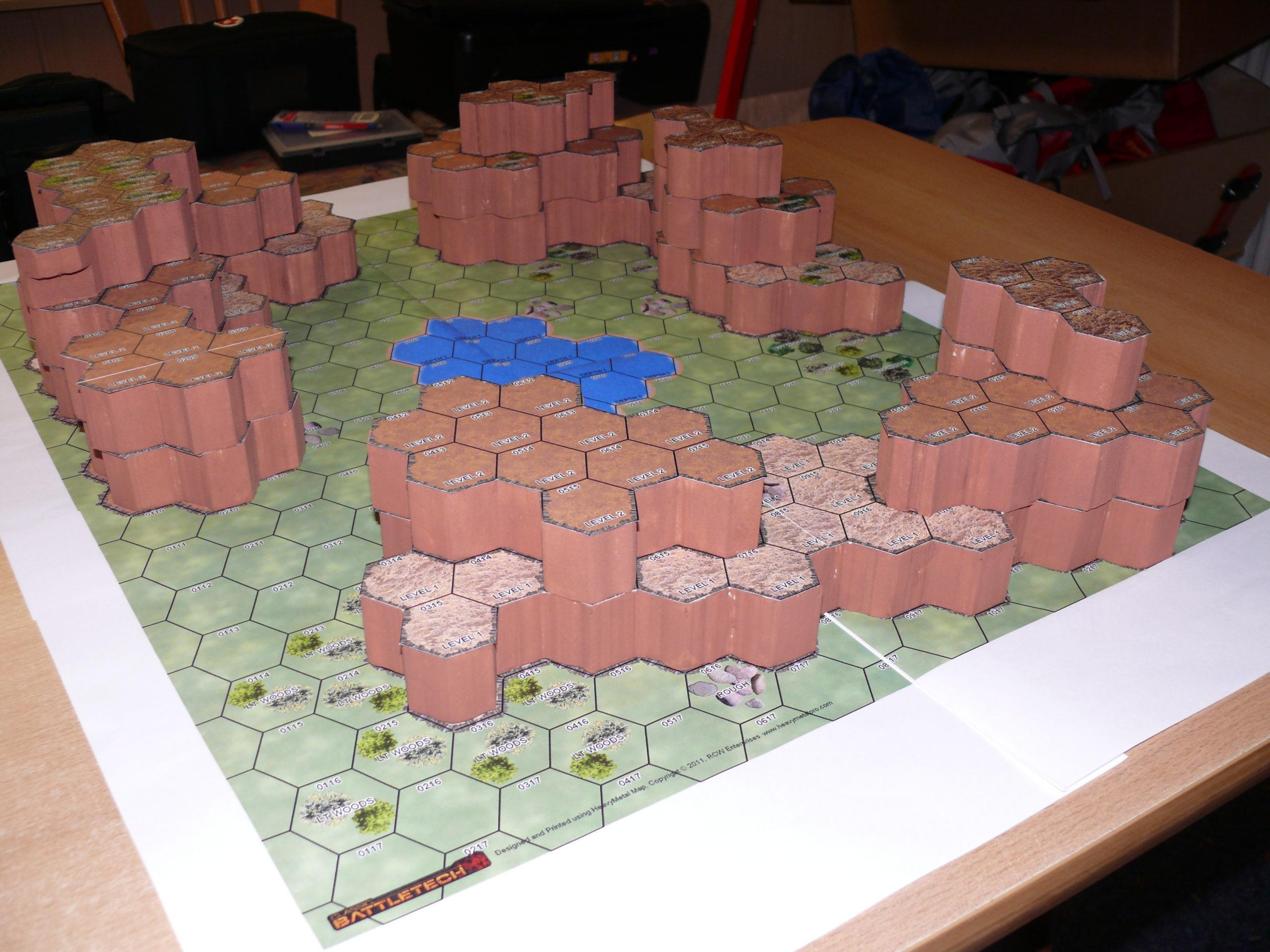 Tutorial: Bau eines 3D-Geländes auf Standard-BT-Hex-Karten