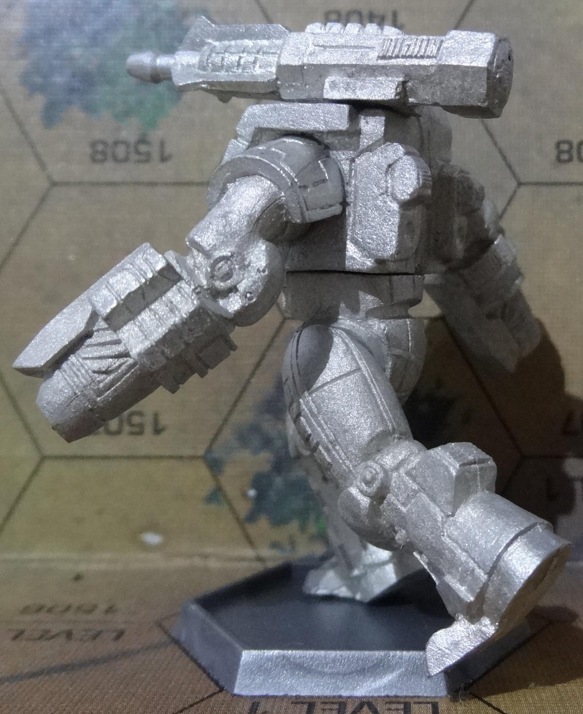 Die Hauberk Battle Armor Commado von hinten links - anklicken für ein größeres Bild