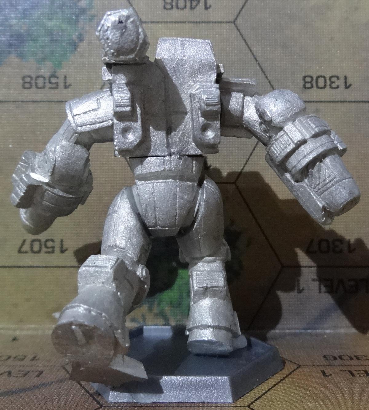 Die Hauberk Battle Armor Commado von hinten - anklicken für ein größeres Bild