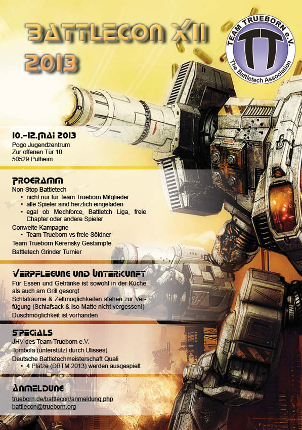 BattleCon 2013 - Flyer