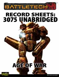 BattleTech: Record Sheets 3075 UnabridgedÑAge of War