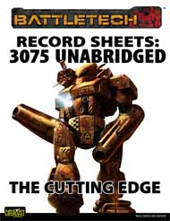 BattleTech: Record Sheets 3075 UnabridgedÑThe Cutting Edge