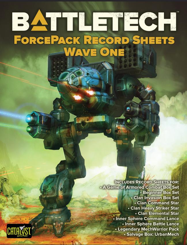 Wave 1 Record Sheets