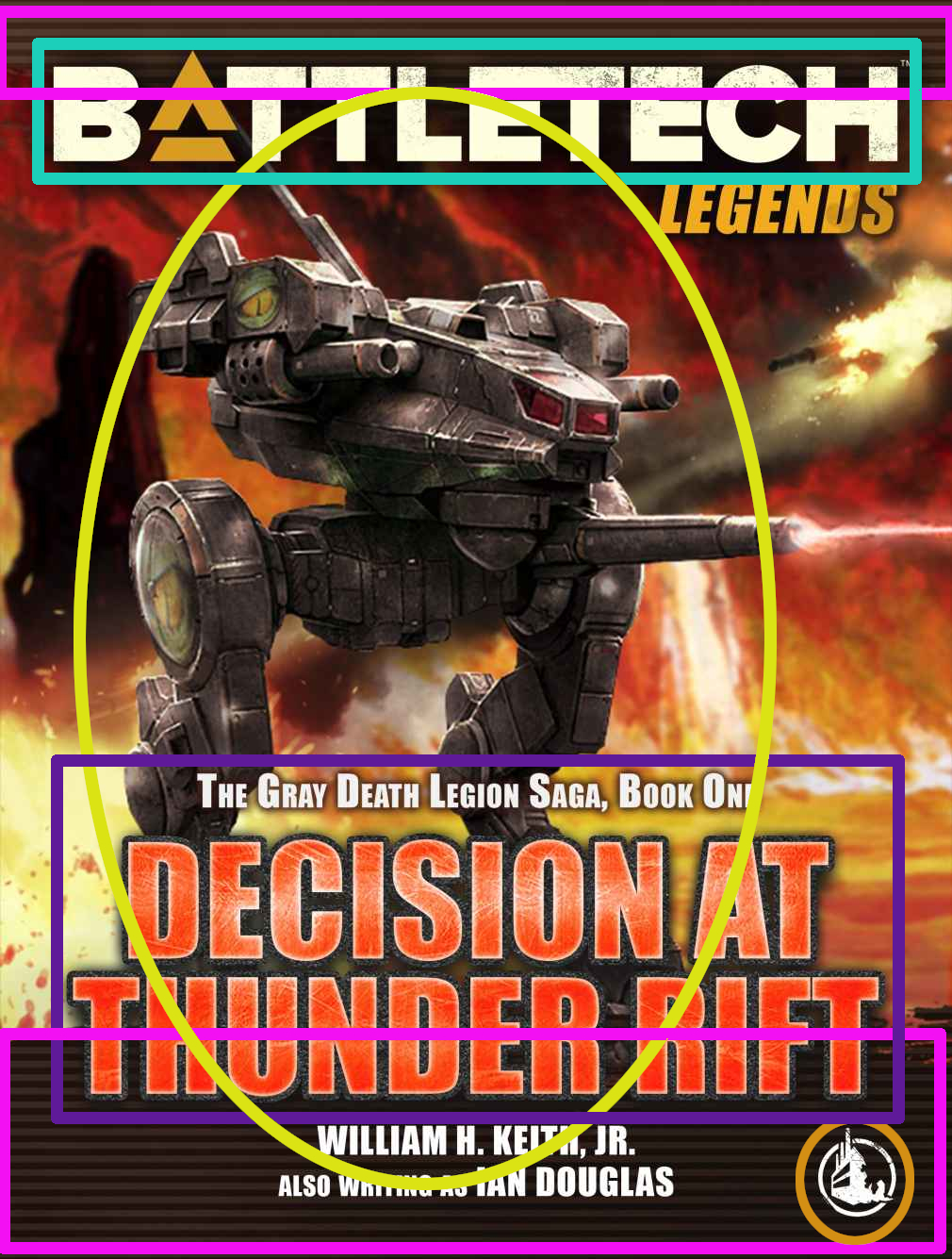 Coververgleich: Decisions at Thunder Rift/Entscheidung am Thunder Rift (Gray Death Legion Saga)