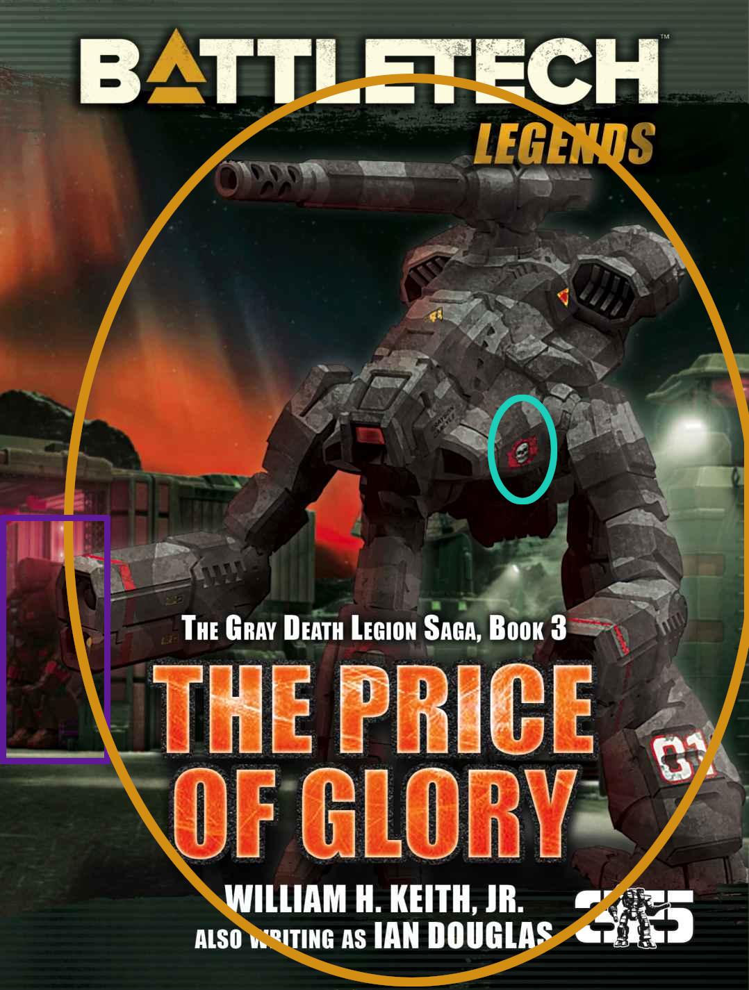Coververgleich: The Price of Glory/Der Preis des Ruhms (Gray Death Legion Saga) [UPDATE]