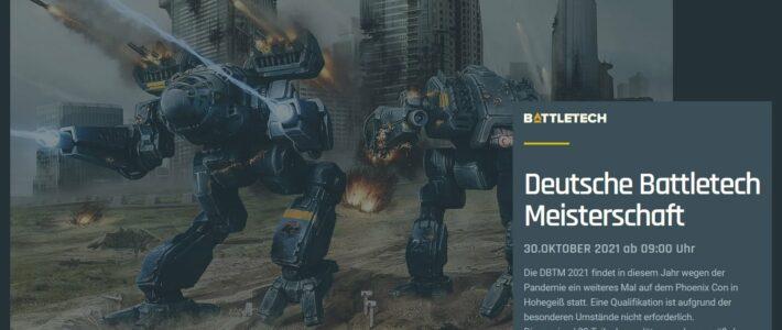 Deutsche Battletech Meisterschaft 2021 – Auf der Phoenix Con
